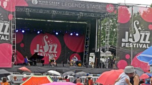 Yoko Miwa Trio on the Legends Stage at the Atlanta Jazz Festival