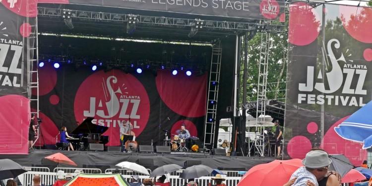 Yoko Miwa Trio on the Legends Stage at the Atlanta Jazz Festival