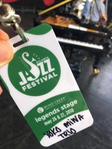 Backstage Pass for the Atlanta Jazz Festival. Photo by Dave Habeeb.