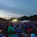 Crowds enjoying the Atlanta Jazz Festival