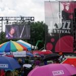 Yoko Miwa on the big screen at Atlanta Jazz Festival