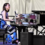 Yoko Miwa on piano at the 2018 Litchfield Jazz Festival. Photo by Austin W. Fenn