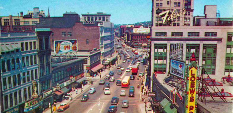 MA-Worcester-Massachusetts-Main-Street-vintage-postcard-photo