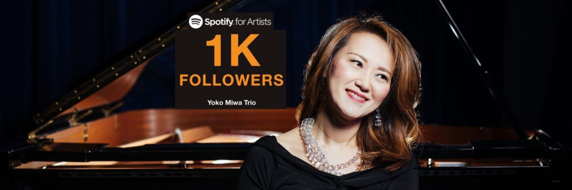 Yoko Miwa Trio hits 1000+ Spotify followers