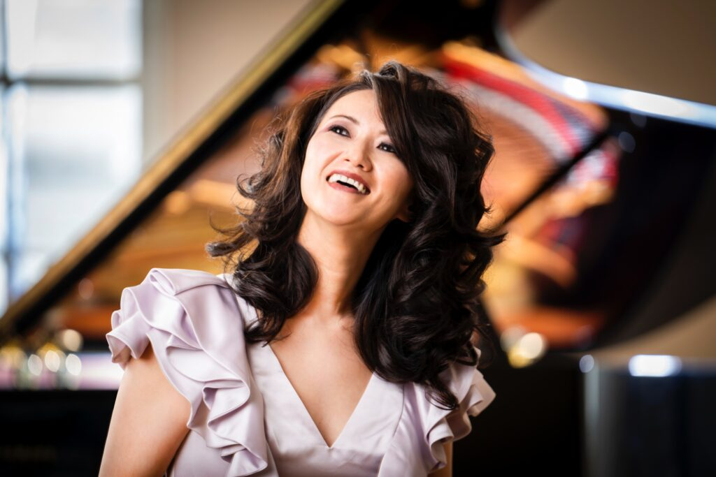 Yoko Miwa, jazz pianist, Yamaha artist, represented Ellora Management Inc., photographed at Yamaha Artists Services, 8/19/2020. Photo by Chris Lee