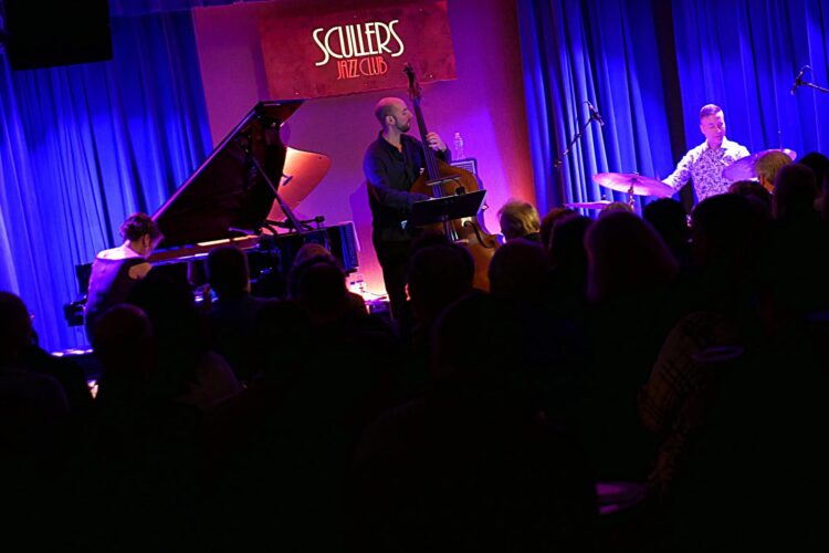 Yoko Miwa Trio playing at Scullers Jazz Club in Boston 2019