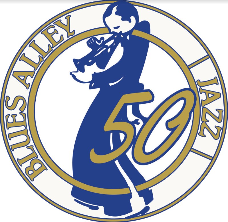 Blues Alley jazz man logo 50 years