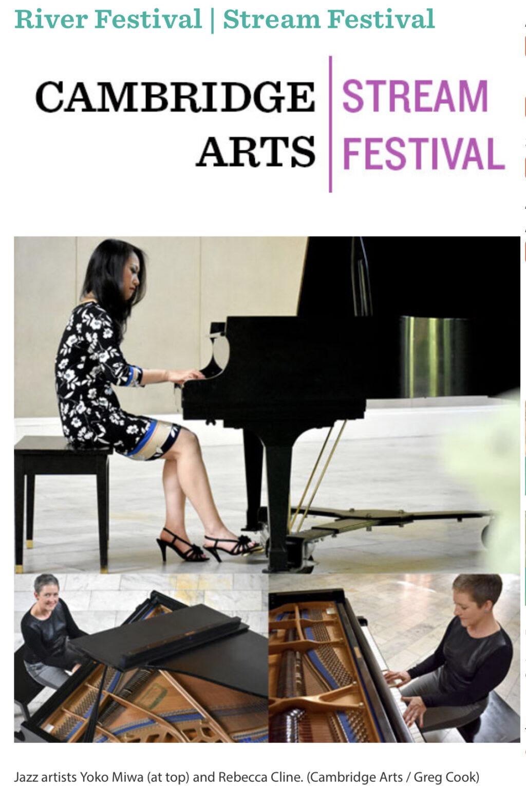Yoko Miwa Trio at the Cambridge Arts Stream Festival