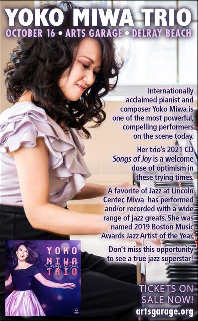 Yoko Miwa playing at Arts Garage in Delray Beach Florida