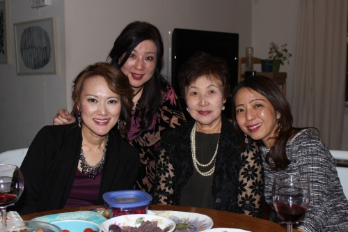 Yoko's mom and friends. [Photo by Jerry Klinow]