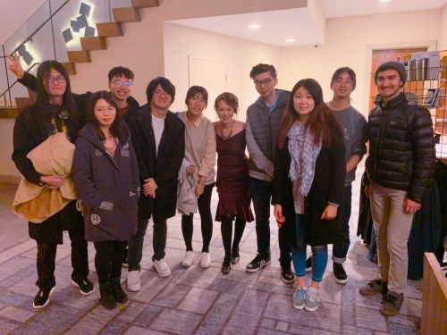 Yoko and her Berklee students. [Photo by Janice Tsai]