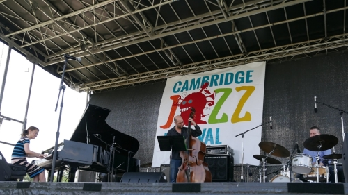 Yoko Miwa Trio at 2019 Cambridge Jazz Fest. Photo by Janice Tsai.