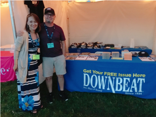 Downbeat Magazine booth