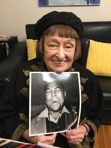 Sheila and her buddy Charlie Parker
